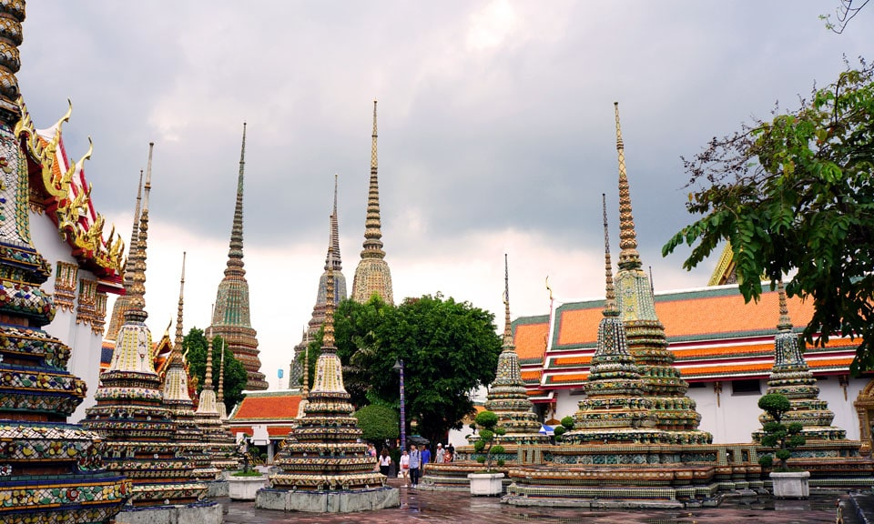 A Bangkok must see are the Wat Pho Pagodas
