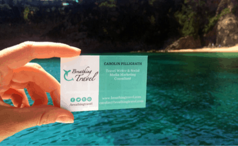 Business Card Breathing Travel