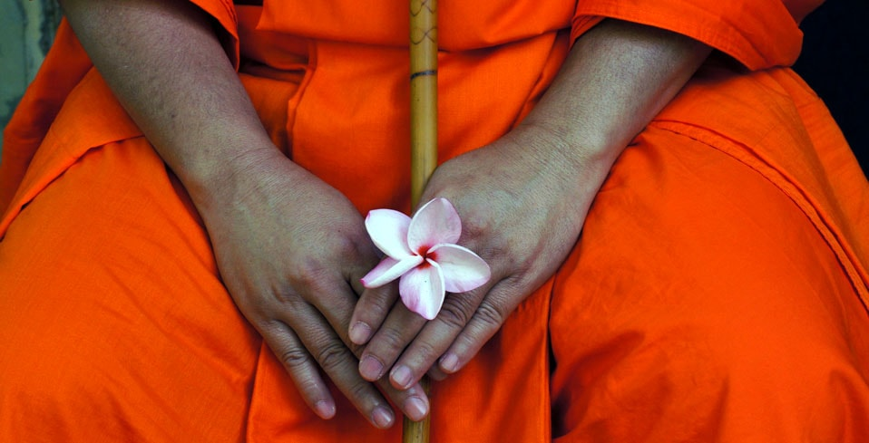 monk-with-flower