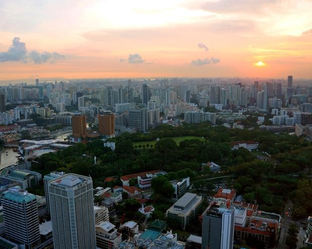 Singapore Sunset Rooftops