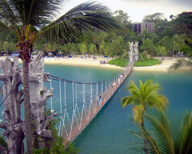 Sentosa Island Singapore Palawan Beach Suspension Bridge