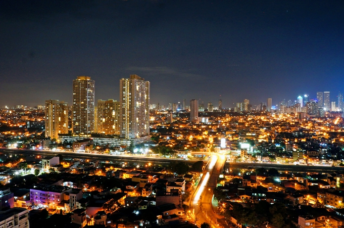 Makati City Philippines at night